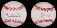 Lot of (2) Signed OML Baseballs with Mark Rogers & Manny Banuelos (SidsGraphs COA) at PristineAuction.com