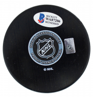 "Mike Modano Signed Stars Logo Hockey Puck Inscribed ""HOF 2014"" (Beckett COA) at PristineAuction.com"