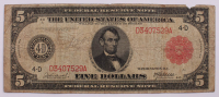 1914 $5 Five-Dollar Red Seal U.S. Large-Size Federal Reserve Note at PristineAuction.com