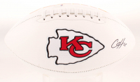 Clyde Edwards-Helaire Signed Chiefs Logo Football (Beckett COA) at PristineAuction.com