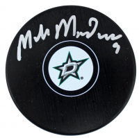 Mike Modano Signed Stars Logo Hockey Puck (Beckett COA) at PristineAuction.com