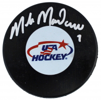 Mike Modano Signed Team USA Logo Hockey Puck (Beckett COA) at PristineAuction.com