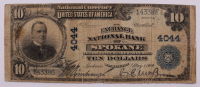 1902 $10 Ten-Dollar U.S. National Currency Large-Size Bank Note - The Exchange National Bank of Spokane, Washington at PristineAuction.com