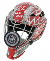 "Mike Modano Signed Red Wings Full-Size Goalie Mask Inscribed ""HOF 2014"" (Beckett COA) at PristineAuction.com"