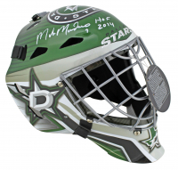 "Mike Modano Signed Stars Full-Size Goalie Mask Inscribed ""HOF 2014 (Beckett COA) at PristineAuction.com"