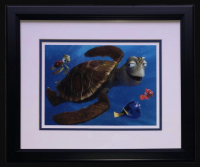 "Finding Nemo ""Crush & Squirt"" 16x18 Custom Framed Photo Display at PristineAuction.com"