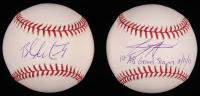 "Lot of (2) Signed OML Baseballs with Jeremy Hermida & Brandon McCarthy Inscribed ""1st AB Grand Slam 8/31/05"" (SidsGraphs COA) at PristineAuction.com"