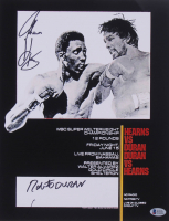 Roberto Duran & Tommy Hearns Signed 11x14 Photo (Beckett COA) at PristineAuction.com
