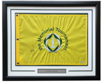 "Justin Rose Signed ""The Memorial Tournament"" 20x30 Custom Framed Golf Pin Flag (Beckett COA) at PristineAuction.com"