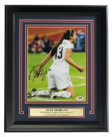 Alex Morgan Signed Team USA 11x14 Custom Framed Photo Display (PSA COA) at PristineAuction.com