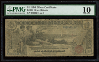 "1896 $1 One-Dollar ""Educational Series"" Large-Size Silver Certificate (PMG 10) at PristineAuction.com"