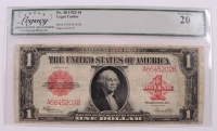 1923 $1 One-Dollar Red Seal U.S. Legal Tender Large-Size Bank Note (LCG 20) at PristineAuction.com
