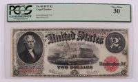 1917 $2 Two-Dollar Red Seal U.S. Legal Tender Large-Size Bank Note (PCGS 30) at PristineAuction.com