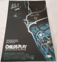 """Alex Vincent & Ed Gale Signed """"Child's Play"""" 11x17 Photo Inscribed """"Andy"""" & """"Chucky"""" (Beckett COA) at PristineAuction.com"""