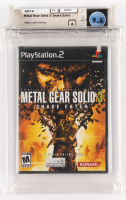 """2004 """"Metal Gear Solid 3: Snake Eater"""" PlayStation 3 Video Game (Wata Certified 9.6) at PristineAuction.com"""