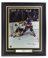 Bobby Orr Signed Bruins 22x27 Custom Framed Photo Display (Orr COA) at PristineAuction.com