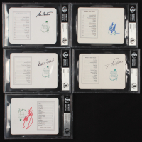 Lot of (5) Signed Masters Scorecards with Ben Crenshaw, Doug Ford, Bernhard Langer, Craig Stadler & Fuzzy Zoeller (BAS Encapsulated) at PristineAuction.com