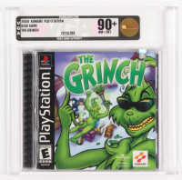 "2000 ""The Grinch"" PlayStation Video Game (VGA 90) at PristineAuction.com"