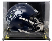 Russell Wilson Signed Seahawks Full-Size Helmet with Display Case (Wilson COA) at PristineAuction.com