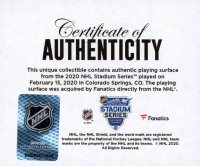 2020 NHL Stadium Series - Kings vs. Avalanche - Crystal Hockey Puck - Filled with Ice from the 2020 Stadium Series (Fanatics COA) at PristineAuction.com