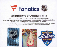 2020 NHL All-Star Game Crystal Hockey Puck - Filled with Ice from the 2020 NHL All-Star Game (Fanatics COA) at PristineAuction.com
