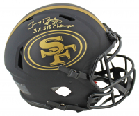 """Jerry Rice Signed 49ers Full-Size Authentic On-Field Eclipse Alternate Speed Helmet Inscribed """"3x SB Champs"""" (Beckett COA) at PristineAuction.com"""