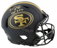 "Jerry Rice Signed 49ers Full-Size Authentic On-Field Eclipse Alternate Speed Helmet Inscribed ""HOF 2010"" (Beckett COA) at PristineAuction.com"