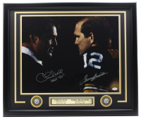 "Terry Bradshaw & Chuck Noll Signed Steelers 22x27 Custom Framed Photo Display Inscribed ""HOF '93"" (JSA COA) at PristineAuction.com"