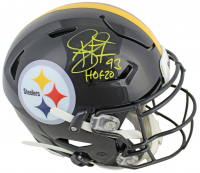 "Troy Polamalu Signed Steelers Full-Size Authentic On-Field Speedflex Helmet Inscribed ""HOF 20"" (Beckett COA) at PristineAuction.com"