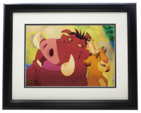 "Timon & Pumbaa ""The Lion King"" 16x20 Custom Framed Photo Display at PristineAuction.com"