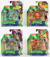 """Lot of (4) Kevin Eastman Signed """"Teenage Mutant Ninja Turtles"""" Action Figurines With Hand-Drawn Turtle Sketches (JSA COA) at PristineAuction.com"""
