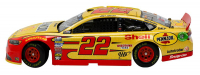 Joey Logano Signed 2019 NASCAR #22 Pennzoil - Shell - Darlington Ford Fusion 1:24 Diecast Car with Display Case (SI COA & PA Hologram) at PristineAuction.com