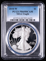2010-W American Silver Eagle $1 One-Dollar Coin (PCGS PR69 Deep Cameo) at PristineAuction.com