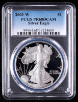 2003-W American Silver Eagle $1 One-Dollar Coin (PCGS PR68 Deep Cameo) at PristineAuction.com
