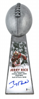 "Jerry Rice Signed 49ers 15"" Lombardi Football Championship Trophy (Beckett COA) at PristineAuction.com"