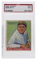 Babe Ruth 1933 Goudey #181 RC (PSA 5) at PristineAuction.com
