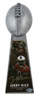 """Jerry Rice Signed 49ers 15"""" Lombardi Football Championship Trophy (Beckett COA) at PristineAuction.com"""