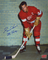 "Gordie Howe Signed Red Wings 8x10 Photo Inscribed ""Mr. Hockey"" (YSMS COA) at PristineAuction.com"