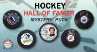 Schwartz Sports Hockey Hall of Famer Signed Logo Hockey Puck Mystery Box - Series 11 (Limited to 100) at PristineAuction.com