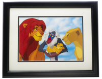 """The Lion King"" Mufasa's Family 16x20 Custom Framed Photo Display at PristineAuction.com"