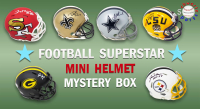 Schwartz Sports Football Superstar Signed Mini Helmet Mystery Box - Series 22 - (Limited to 100) at PristineAuction.com