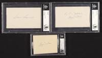Lot of (3) Byron Nelson & Sam Snead Signed Index Cards (BGS Encapsulated) at PristineAuction.com