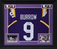 "Joe Burrow Signed 32x37 Custom Framed Jersey Inscribed ""2019 Heisman"" (Beckett COA) at PristineAuction.com"