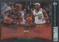 Michael Jordan / LeBron James 2005-06 UD Portraits Signature Portraits 8x10 Dual #DSP1 (BGS 8.5) at PristineAuction.com