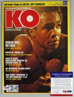 Sugar Ray Leonard Signed 1983 Knockout Boxing Magazine (PSA COA) at PristineAuction.com