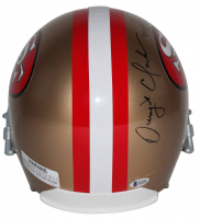 """Joe Montana & Dwight Clark Signed 49ers Full-Size Helmet with Original Hand-Drawn Play Inscribed """"The Catch"""" & """"1.10.82"""" (Beckett COA) at PristineAuction.com"""