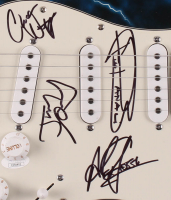 "39"" Electric Guitar Signed By (4) With Jizzy Pearl, Alex Grossi, Chuck Wright & Frankie Banali (JSA COA) at PristineAuction.com"
