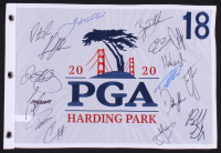 2020 PGA Championship Golf Pin Flag Signed By (16) with Rory Mcllroy, Patrick Reed, Dustin Johnson, Zach Johnson (JSA ALOA) at PristineAuction.com