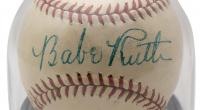 Babe Ruth Signed Reach Special League Baseball (BGS Encapsulated & JSA LOA) at PristineAuction.com