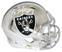 Bo Jackson Signed Raiders Chrome Speed Mini Helmet (Beckett COA & GTSM Hologram) at PristineAuction.com